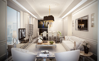 Showroom Modern Living Room New York By Home Style Luxury Group
