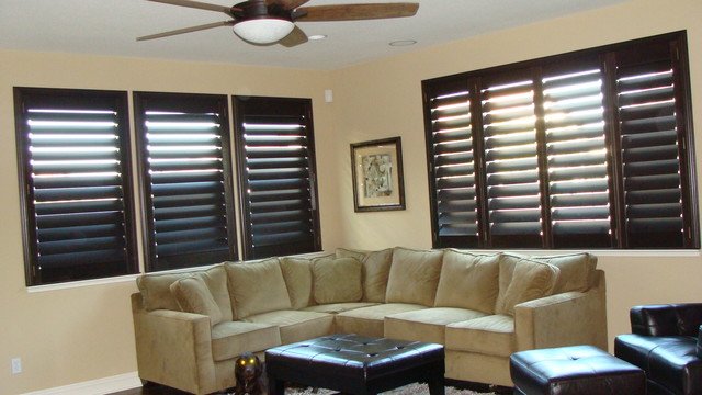 Shutters Traditional Living Room Sacramento By Blind Spot Blinds Amp