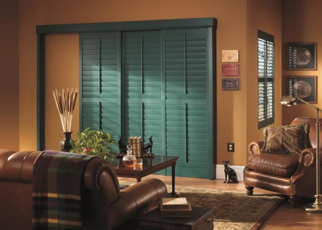 Shutters Traditional Living Room Houston By Budget