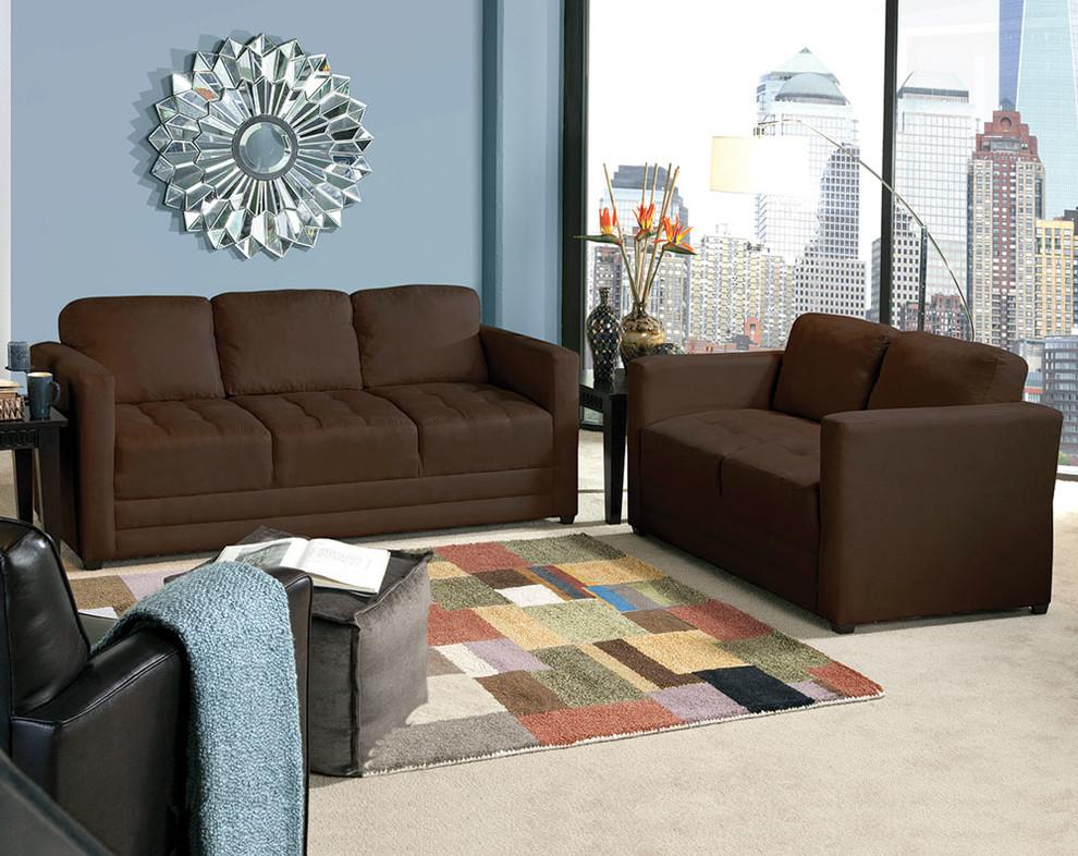 Sienna Chocolate Sofa And Loveseat
