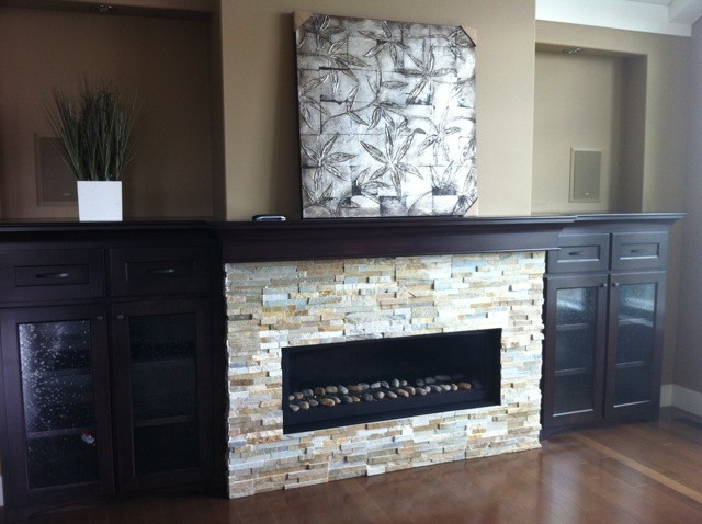 Sierra Shadow Fireplace Contemporary Living Room