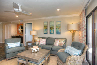 Siesta Gulf View - Beach Style - Living Room - Tampa - by Chic on the Cheap