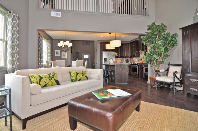 Signature Homes Living Room at Hawk's Ridge living-room