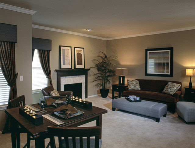 Signature Place Model Apartment By Design Connection, Inc. Transitional  Living Room Part 80
