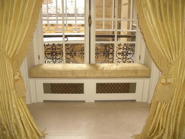 Silk Window Seat Cushions & Curtains - Traditional ...