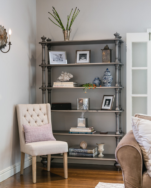 Silver Bookcase - Traditional - Living Room - San Francisco ...