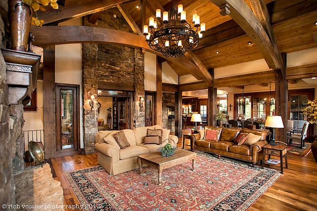 Silverthorne Residence Rustic Living Room Other By
