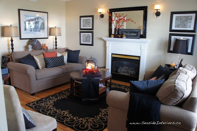 Simple Autumn Decor contemporary living room