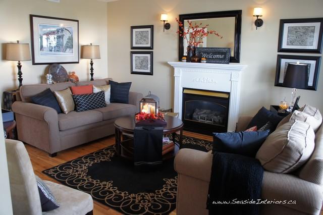 Simple Autumn Decor contemporary-living-room