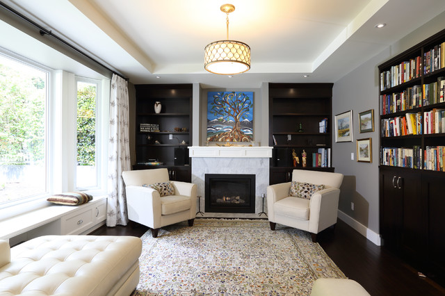 Simple Elegance in West Vancouver traditional-living-room