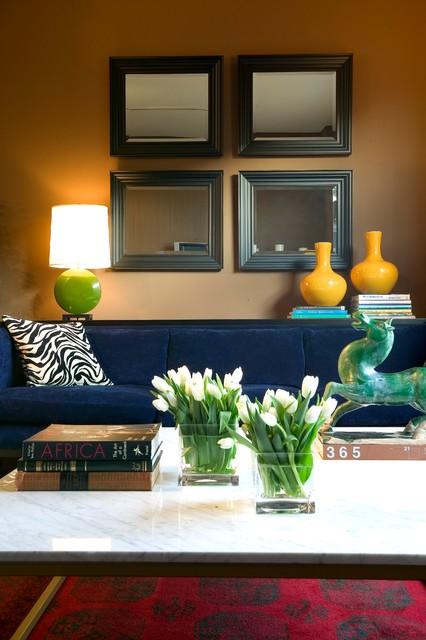 Simple Symmetrical Living Room transitional-living-room