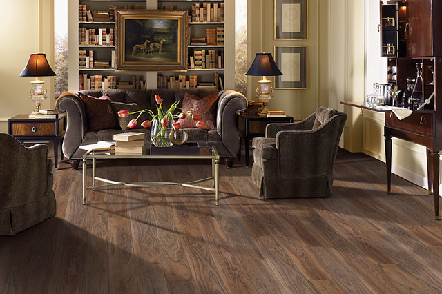 Traditional Living Flooring : Simplese Vinyl Plank Living Room - Traditional - Living ...