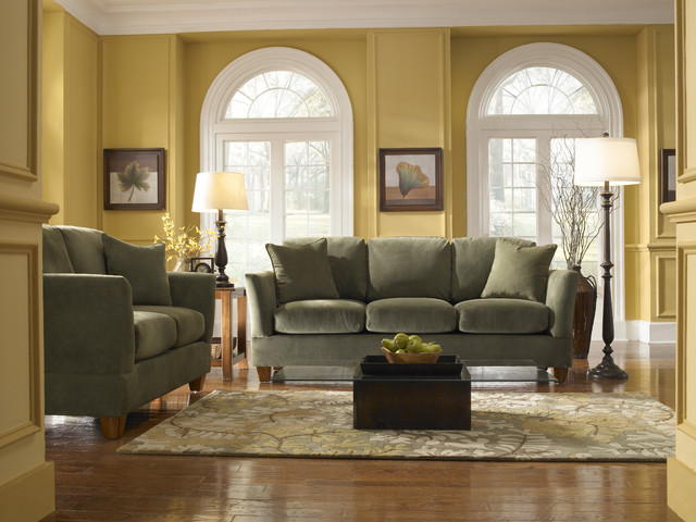 Living Room Decorating Ideas Green And Brown living room interior design ideas with green sofa. ther with