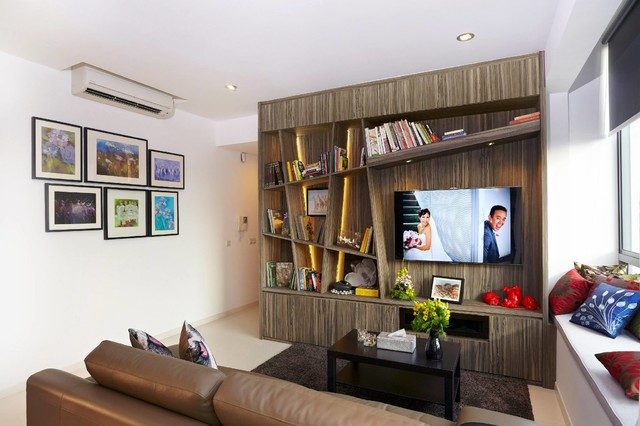 Singapore making small spaces work for you one north residences contemporary living room - Making most of small spaces property ...