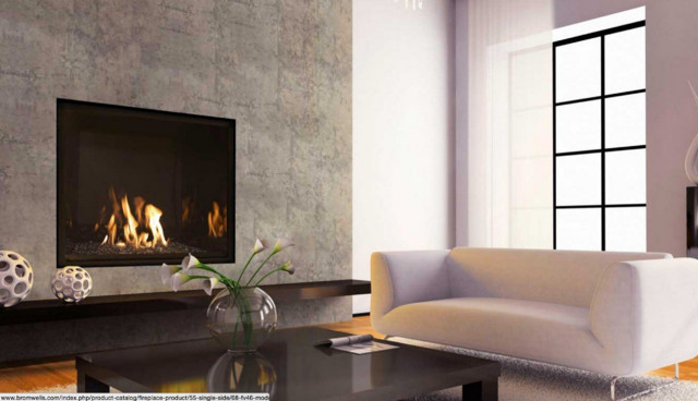 Single sided gas fireplaces modern living room for Modern living room gas fires