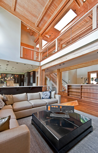 Six Walls NW Territorial Stunner contemporary-living-room