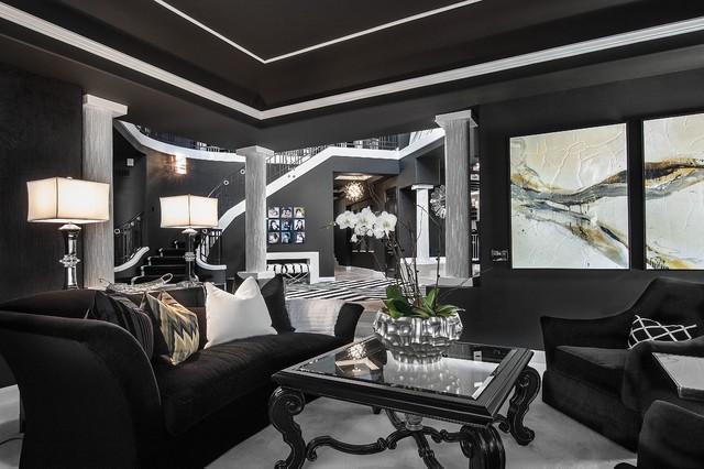 SJC Dramatic Remodel Contemporary Living Room