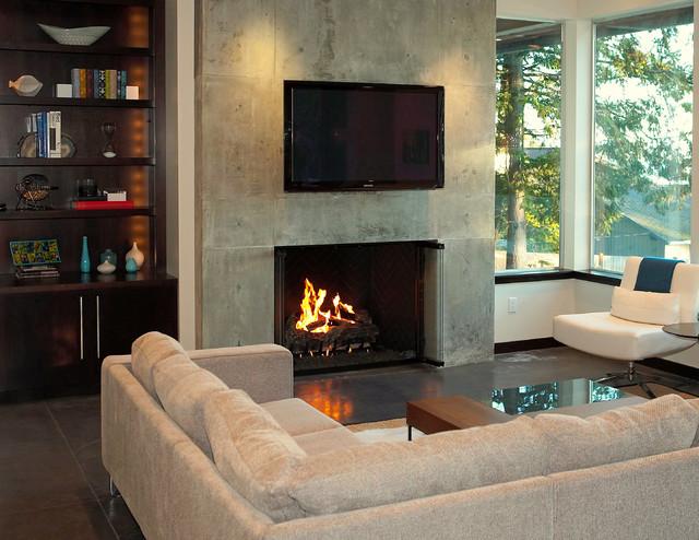 Detail of living area. modern-living-room