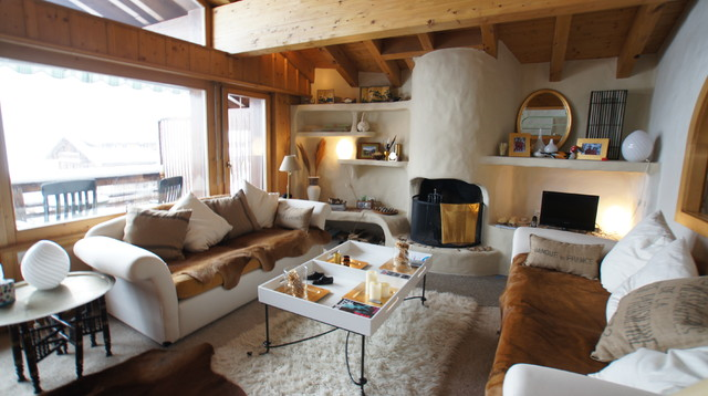 Ski Apartment contemporary-living-room