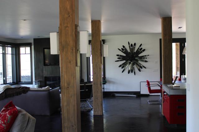 Ski Beams wall sculpture - Contemporary - Living Room - Denver ...