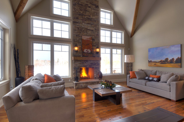 Ski Chalet Alta Traditional Living Room Toronto By