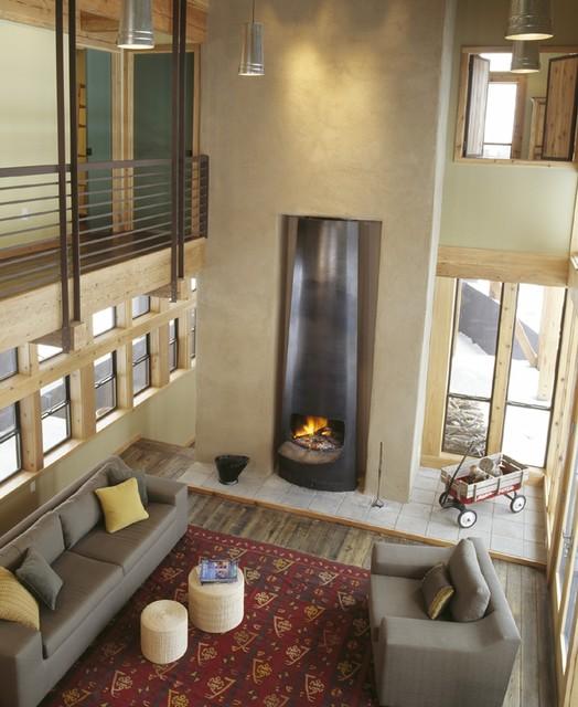 Ski House rustic-living-room