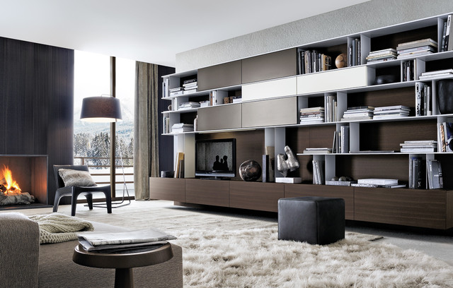 Skip System Contemporary Living Room By Poliform Usa