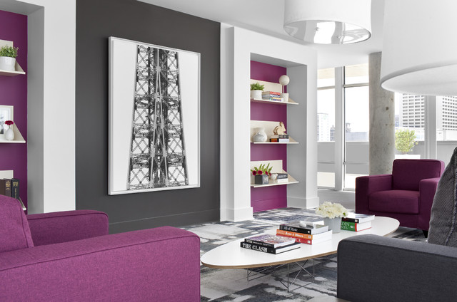 Contemporary Living Room by Niki Papadopoulos & 9 Fashionably Cool Living Room Color Palettes