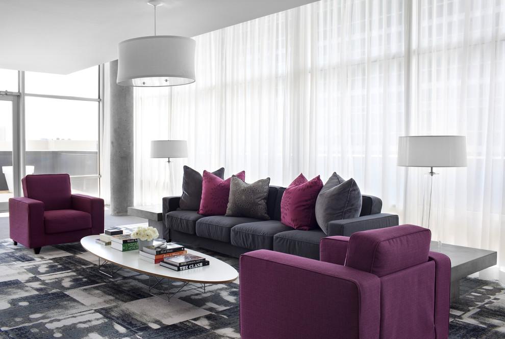 Large trendy living room photo in Atlanta