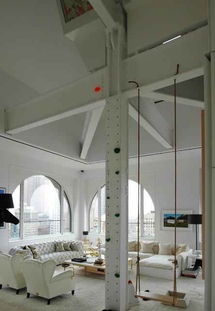 Skyhouse - David Hotson Architect contemporary-living-room