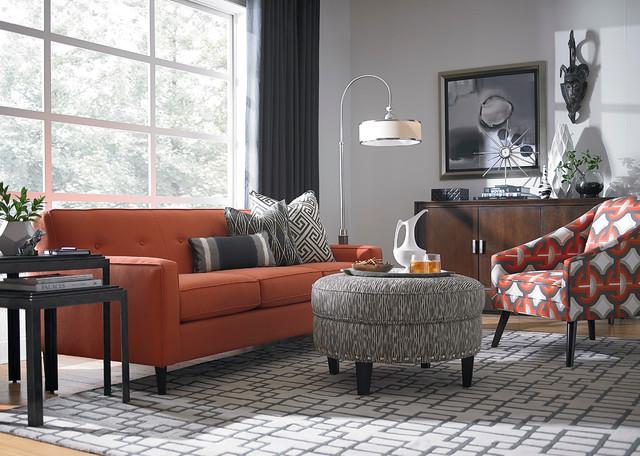 Skylar Sofa By Bassett Furniture Contemporary Living Room