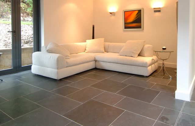 Slate Floor Tiles Living Room Nice Look