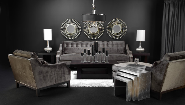 Sleek and chic living contemporain salon par z gallerie for Z gallerie living room inspiration