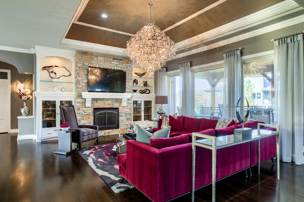 sleek  stylish  contemporary  living room  omaha