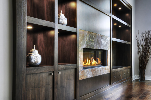 Sleek home in oakville 1206 contemporary living room toronto by braam 39 s custom cabinets - Custom cabinet doors toronto ...