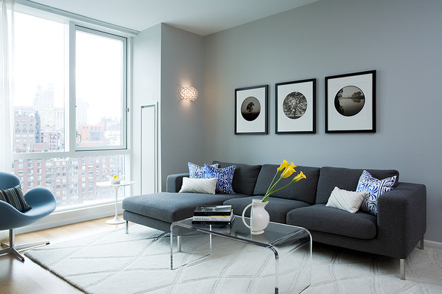 Sleek Living Room Modern New York