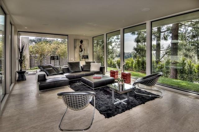 Sleek modern living room for Modern sleek living room