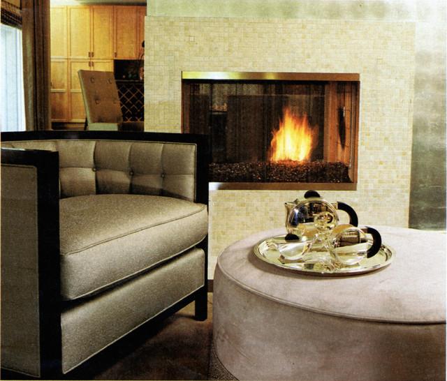 Sleek ranch retreat contemporary living room for Modern sleek living room