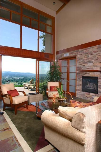 sleek  contemporary  living room  seattle jon r