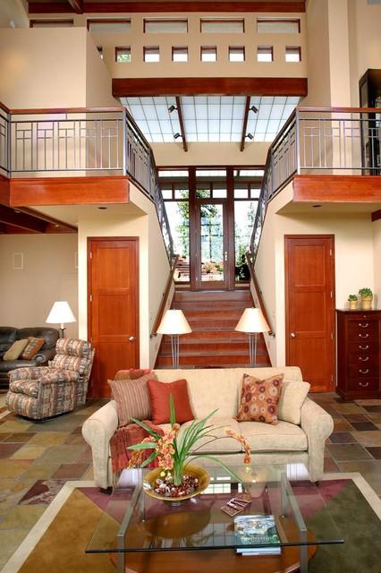 sleek  contemporary  living room  seattle sayler