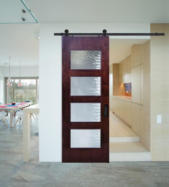 Sliding barn doors birch santa monica contemporary door for Sliding barn door living room