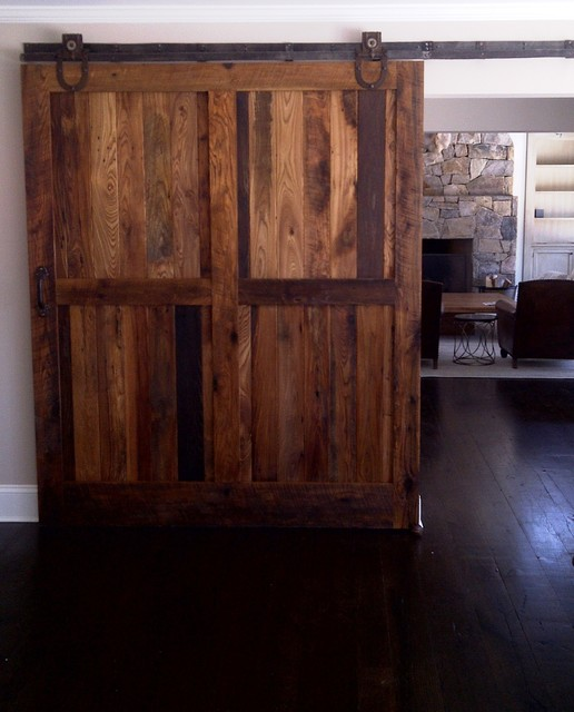Sliding Barn Doors Contemporary Living Room Boise By