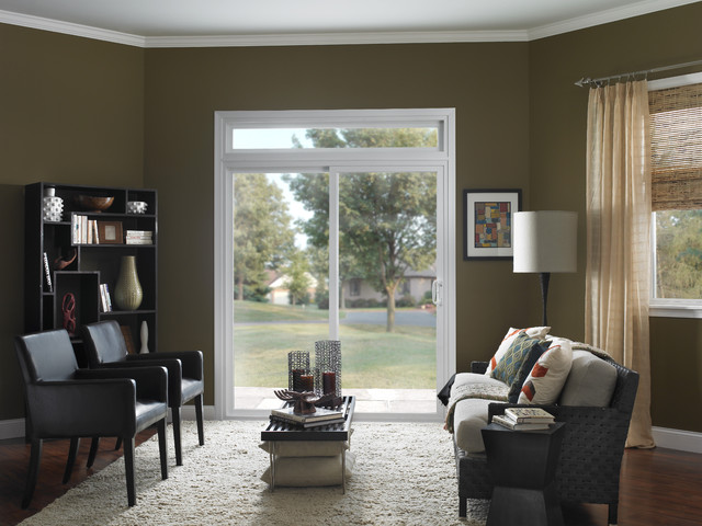 Sliding patio door contemporary living room by ply gem for Small sliding glass patio doors