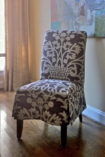 Slipcover For Parson 39 S Chair Eclectic Living Room Nashville By Camille Moore Window