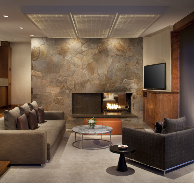 Design For Living Room With Open Kitchen Houzz Home Design: Slope Style Condo