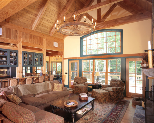 Slopeside Home In Southern Vt Rustic Living Room