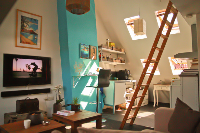 Small Apartment With A Pitched Roof Contemporary