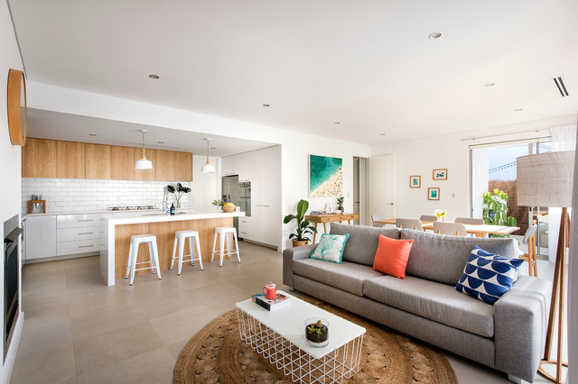 Small beach house modern living room perth by for Modern beach house living room