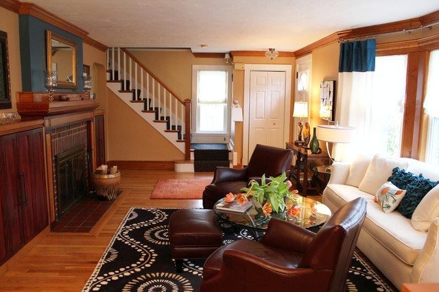 . Small bungalow house in Framingham   Traditional   Living Room