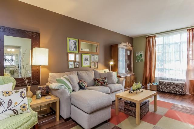 Small Cape Cod Remodel Eclectic Living Room Grand Rapids By Truer Design Llc